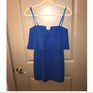Cobalt blue short cocktail dress.
